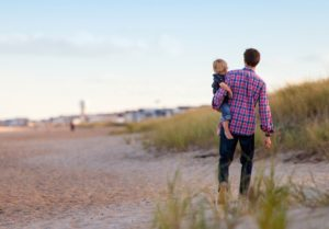 parent-child-beach