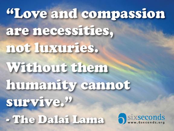 """Is compassion """"nice"""" or """"need""""?"""