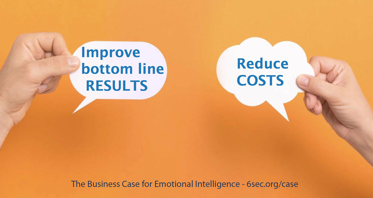 Research shows that emotional intelligence improves the bottom line -- and reduces costs from unwanted turnover and waste