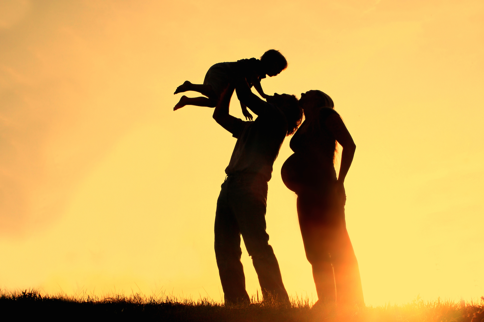 Фото беременная на закате